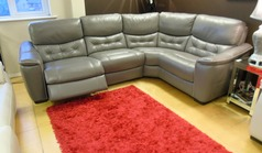 Brighton  electric recliner Euro corner grey leather £1499 ( SWANSEA SUPERSTORE) - Click for more details