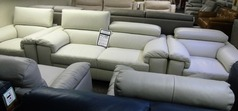 Potenza 3 seater and 2 chairs light cream  £999   (SWANSEA SUPERSTORE) - Click for more details