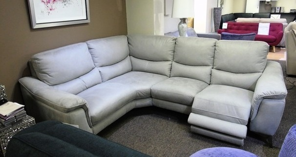Dijon electric recliner corner suite grey  £799 ( SWANSEA SUPERSTORE)