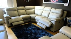 Paris electric recliner corner suite £1999 (SWANSEA SUPERSTORE) - Click for more details