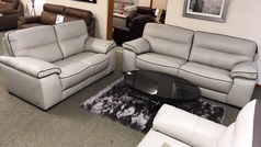 Napa 3 seater and 2 seater cream/dark piping £1999 (SWANSEA SUPERSTORE) - Click for more details