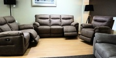 Biscay electric recliner 3 seater, 2 seater and chair tobacco £1299  (CARDIFF SUPERSTORE) - Click for more details