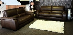 Amalfi 3 seater and 2 seater mid brown £1999 (CARDIFF SUPERSTORE) - Click for more details