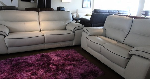 Napa 3 seater and 2 seater stone cream £1999 (CARDIFF SUPERSTORE)