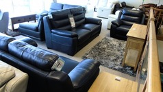 Charlotte 3 seater, 2 seater and power recliner chair navy £1999 ( CARDIFF SUPERSTORE) - Click for more details