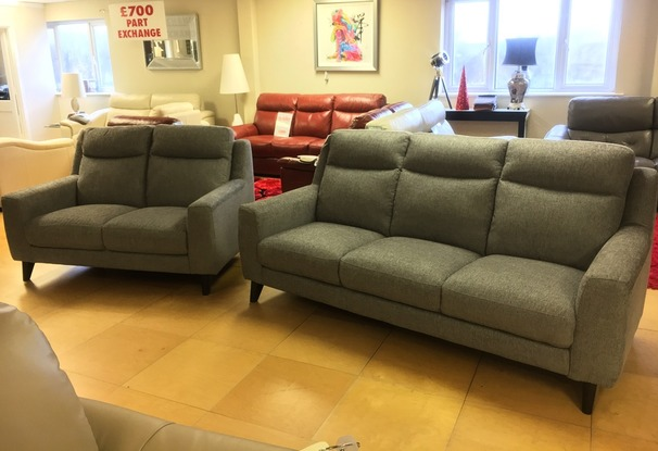 Newbury large 3 seater and 2 seater grey £1299 (SWANSEA SUPERSTORE)