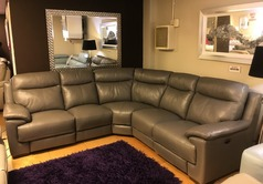 Paris  electric recliner corner suite grey £1999 (SWANSEA SUPERSTORE) - Click for more details