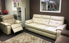 Lyon 3 seater and electric recliner chair £1799 bisque (SWANSEA SUPERSTORE) - Click for more details