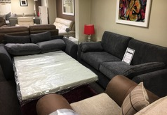 Roma 3 seater and 2 seater sofa bed grey £999 (SWANSEA SUPERSTORE) - Click for more details