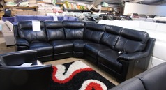 Paris  double electric recliner corner suite black £1499 (SWANSEA SUPERSTORE) - Click for more details