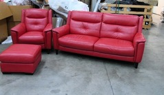 Winchester 3 seater, 1 chair and stool red £499 (SWANSEA SUPERSTORE) - Click for more details
