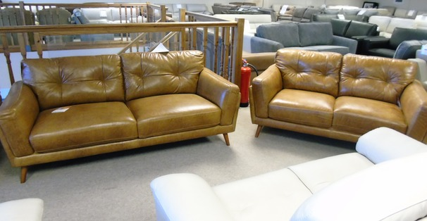 Cadiz 3 seater and 2 seater  tan £1599 (CARDIFF SUPERSTORE)