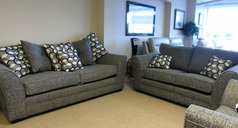 Loreen 3 seater and 2 seater grey fabric £999 ( CARDIFF SUPERSTORE) - Click for more details