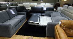 Roma 3 seater and 2 seater sofa bed grey  £999 (CARDIFF SUPERSTORE) - Click for more details