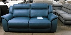 Caterina elctric recliner 3 seater blue £399 - Click for more details