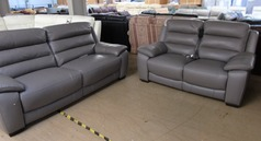 Charlotte electric recliner 3 seater and 2 seater  elephant grey £1999 (SWANSEA SUPERSTORE) - Click for more details