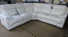 PARIS electric recliner corner suite white £1999 (SWANSEA SUPERSTORE) - Click for more details