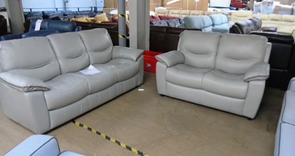 LIlle 3 seater and 2 seater grey £1499 (SWANSEA SUPERSTORE)