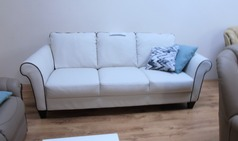 Private Label 3 seater sofa cream £299 (SWANSEA SUPERSTORE) - Click for more details