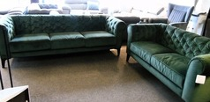 Ravenna 3 seater and 2 seater green £999 (SWANSEA SUPERSTORE) - Click for more details