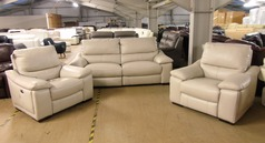 Provence electric recliner 3 seater and 2 electric recliner chairs £1499 (SWANSEA SUPERSTORE) - Click for more details