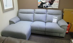 Paris chaise sofa grey fabric £799 (SWANSEA SUPERSTORE) - Click for more details