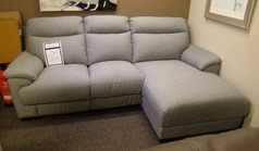 Paris chaise sofa RHF grey fabric £799 (SWANSEA SUPERSTORE) - Click for more details