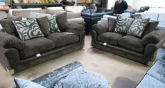 G range 3 seater and 2 seater dark brown £599 (SWANSEA SUPERSTORE) - Click for more details