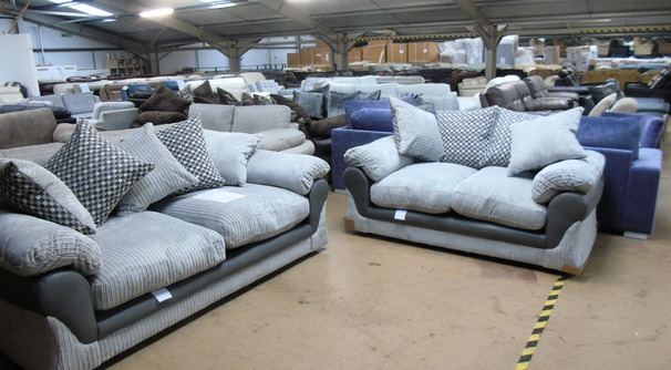 G range 3 seater and 2 seater grey cord £599 (SWANSEA SUPERSTORE)