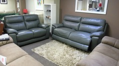 Normandy electric recliner 3 seater and static 2 seater grey £1999 (SWANSEA SUPERSTORE) - Click for more details