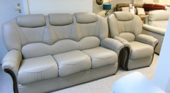 Garda 3 seater and 1 chair stone £1099 (CARDIFF SUPERSTORE) - Click for more details