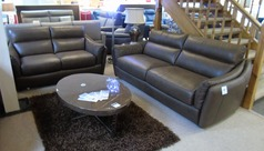 Anzio 3 seater and 2 seater brown £1999 (CARDIFF SUPERSTORE) - Click for more details