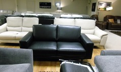 Vittoria 2 seater sofa black £499 (CARDIFF SUPERSTORE) - Click for more details