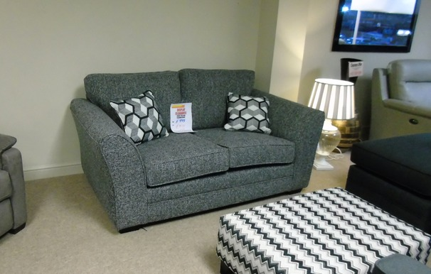 Vestra 2 seater charcoal fabric £399 (CARDIFF SUPERSTORE)