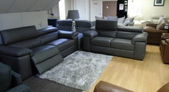 Lazio 3 seater electric recliner and 2 seater £3999 (SWANSEA SUPERSTORE) - Click for more details
