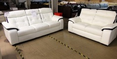 Lyon 3 seater and 2 seater -white/ purple  stripe £999 (SWANSEA SUPERSTORE) - Click for more details