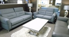 Teseo 3 seater and 2 seater mid grey £1999 (SWANSEA SUPERSTORE) - Click for more details