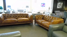 Nancy 3 seater and 2 seater vintage tan £1999 (SWANSEA SUPERSTORE) - Click for more details