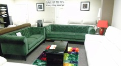 Ravenna 3 seater and 2 seater green velvet £899 ( SWANSEA SUPERSTORE) - Click for more details