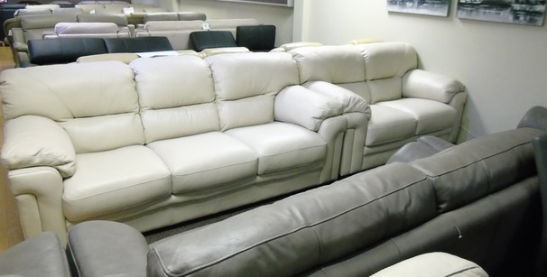 Linate 3 seater and 2 seater cream £1499 (SUPERSTORE)
