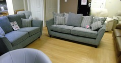Vestra 3 seater and 2 seater grey £999 (SWANSEA SUPERSTORE) - Click for more details