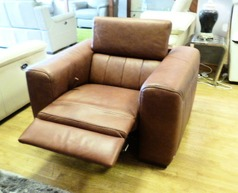 Bellini recliner chair grade 30 tan £299 ( SWANSEA SUPERSTORE) - Click for more details