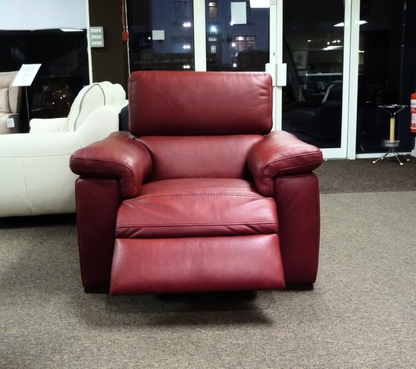 Lazio electric recliner chair red £399 (SWANSEA SUPERSTORE)