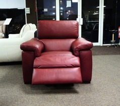 Lazio electric recliner chair red £399 (SWANSEA SUPERSTORE) - Click for more details