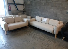 Malmo 3 seater and 2 seater beige £499 (SWANSEA SUPERSTORE) - Click for more details
