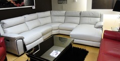 Orleans  recliner chaise corner suite frost £1499 (SWANSEA SUPERSTORE) - Click for more details