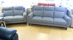 Newbury  large 3 seater and 2 seater grey £999 (SWANSEA SUPERSTORE) - Click for more details