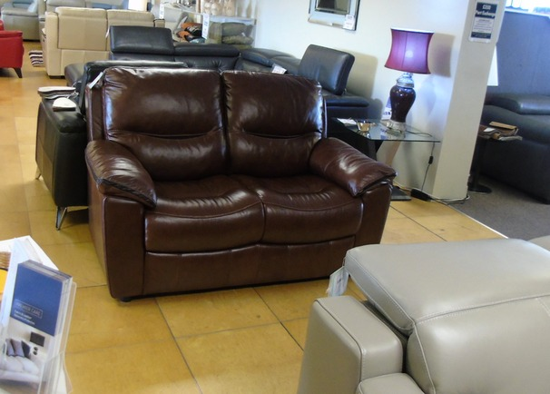 Lille 2 seater brown £249 (SWANSEA SUPERSTORE)