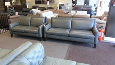 Ferrara 3 seater and 2 seater grey leather £1499 (SWANSEA SUPERSTORE) - Click for more details