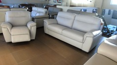 Valencia 3 seater  and electric recliner chair grey  £999 (SWANSEA SUPERSTORE) - Click for more details